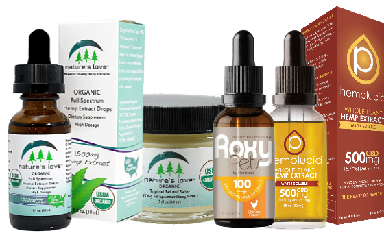 CBD and Hemp Oil Extract products from the United States.
