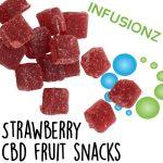 Vegan formula Strawberry Fruit Chews rich with CBD and Full Spectrum